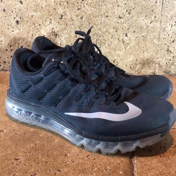 88d0bcfac3 Nike Air Max 2016 Black Running Shoes 806772-001. M_5c3819a05c4452460d4deb97